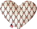 Dapper Rabbits 8 inch Heart Dog Toy