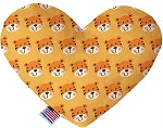 Tally the Tiger 6 inch Heart Dog Toy