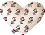 Fresh Pup 6 inch Stuffing Free Heart Dog Toy