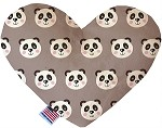 Grey Pandas 8 inch Heart Dog Toy