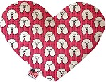 Pretty Poodles 6 inch Stuffing Free Heart Dog Toy