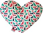 Pups and Kits 6 inch Stuffing Free Heart Dog Toy