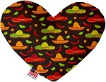 Sombreros 6 inch Stuffing Free Heart Dog Toy