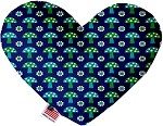 Blue Mushrooms 8 inch Stuffing Free Heart Dog Toy