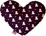 Purple Puppy Love 6 inch Stuffing Free Heart Dog Toy