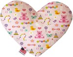 Baby Girl 8 inch Stuffing Free Heart Dog Toy