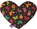 Butterflies in Brown 8 inch Stuffing Free Heart Dog Toy