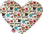 Happy Birthday 8 inch Stuffing Free Heart Dog Toy