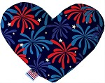 Fireworks 8 inch Stuffing Free Heart Dog Toy