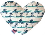 Palm Tree Paradise 6 inch Stuffing Free Heart Dog Toy