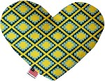 Yellow Southwest 8 inch Stuffing Free Heart Dog Toy