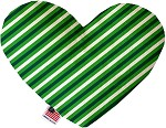 St. Patrick's Stripes 6 inch Stuffing Free Heart Dog Toy