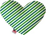 Lucky Stripes 8 inch Stuffing Free Heart Dog Toy