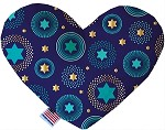 Blue Star of David 6 inch Stuffing Free Heart Dog Toy