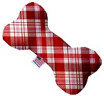 Valentines Day Plaid 6 inch Bone Dog Toy
