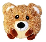 Roundimal Squeaky Dog Toy Bear