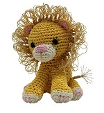 Knit Knacks King Cuddles the Lion Organic Cotton Small Dog Toy
