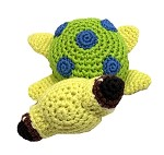 Knit Knacks Squish the Sea Turtle Organic Cotton Small Dog Toy