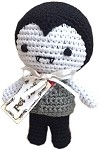 Knit Knacks Dracula Organic Cotton Small Dog Toy