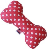 Swiss Dots 6 inch Bone Dog Toy Bright Pink