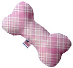 Cupid Pink Plaid 6 inch Bone Dog Toy