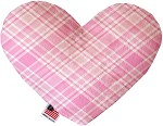 Cupid Pink Plaid 6 inch Heart Dog Toy