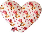 Fox Balloons 6 inch Heart Dog Toy
