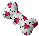Hearts and Arrows 6 inch Bone Dog Toy