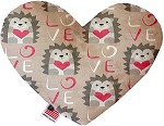 Hedgehog Love 6 inch Heart Dog Toy