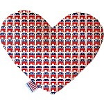 Republican 6 inch Heart Dog Toy