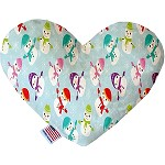 Colorful Frosty 6 inch Heart Dog Toy