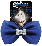 Crystal Bone Widget Pet Bowtie Blue