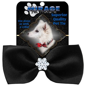 Snowflake Widget Pet Bowtie Black