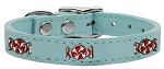 Peppermint Widget Genuine Leather Dog Collar Baby Blue 10