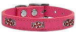 Peppermint Widget Genuine Leather Dog Collar Pink 10
