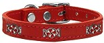 Peppermint Widget Genuine Leather Dog Collar Red 10